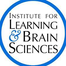 A white background with black text reading, 'Institute for Learning & Brain Sciences', with the words encircled by a blue ring.